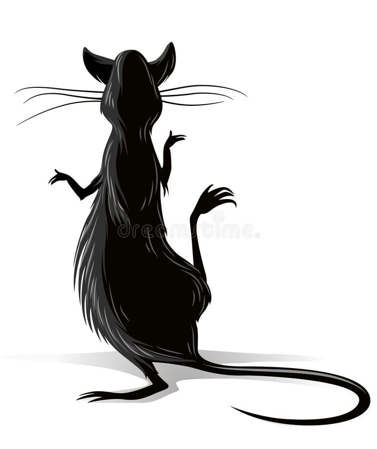 Ilustração do vetor do rato preto