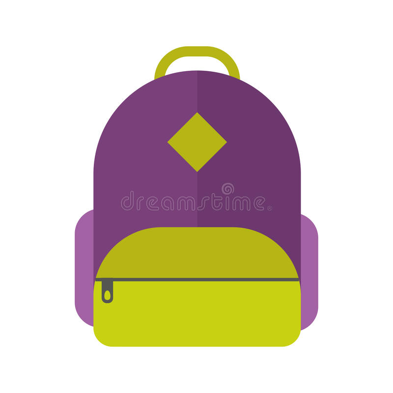 Ilustração do vetor do saco de escola ilustração stock