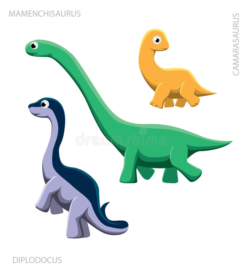 Ilustração do vetor do Sauropod do dinossauro ilustração do vetor