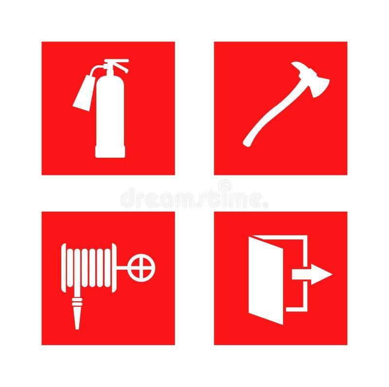 Ilustração do vetor do sinal de proteção contra incêndios ilustração do vetor