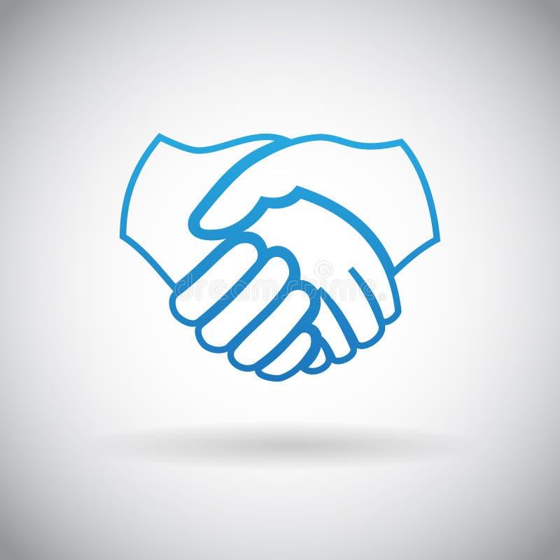 Ilustração do vetor do sinal do símbolo do ícone da parceria da cooperação do aperto de mão ilustração stock