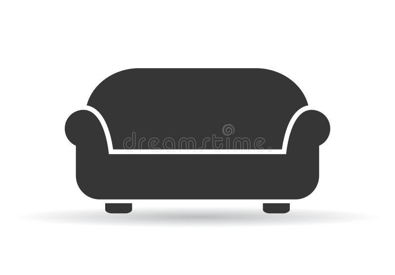 Ilustração do vetor do sofá ilustração royalty free