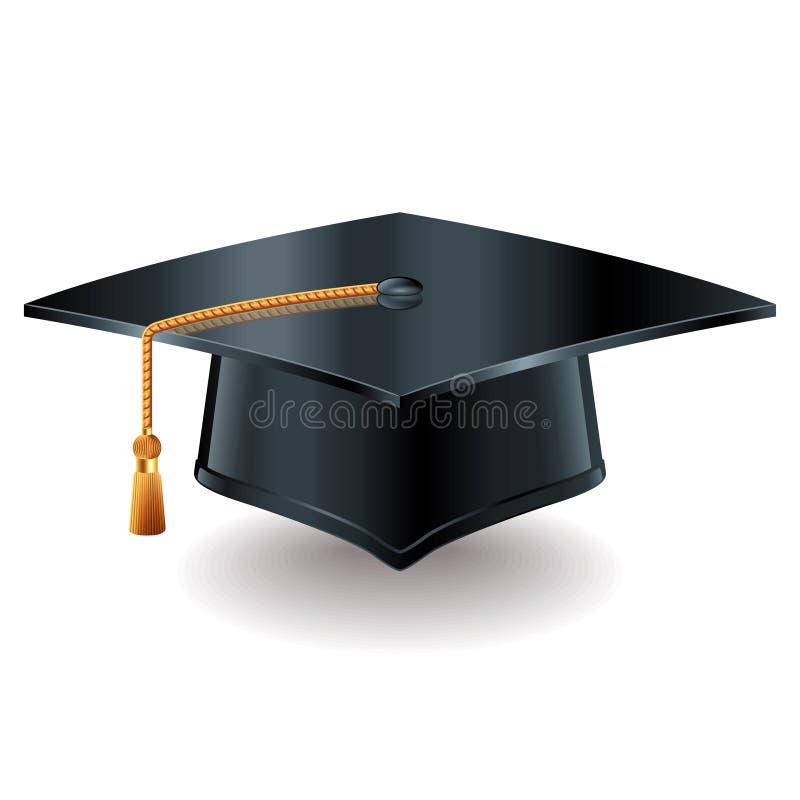 Ilustração do vetor do tampão da graduação ilustração do vetor