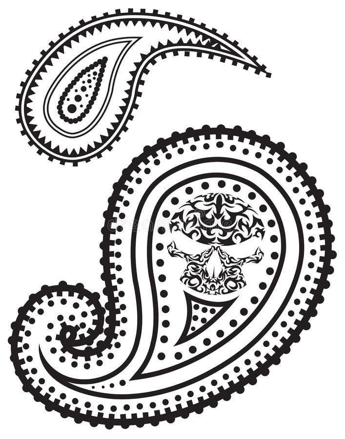 Ilustração do vetor do teste padrão de paisley ilustração stock