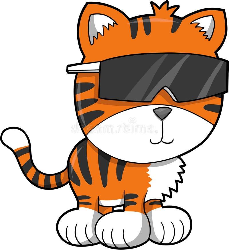 Ilustração do vetor do tigre ilustração stock
