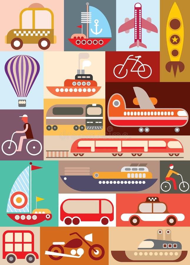 Ilustração do vetor do transporte ilustração stock