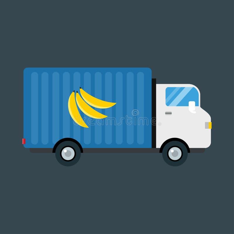 Ilustração do vetor do transporte da entrega dos frutos da importação ilustração stock