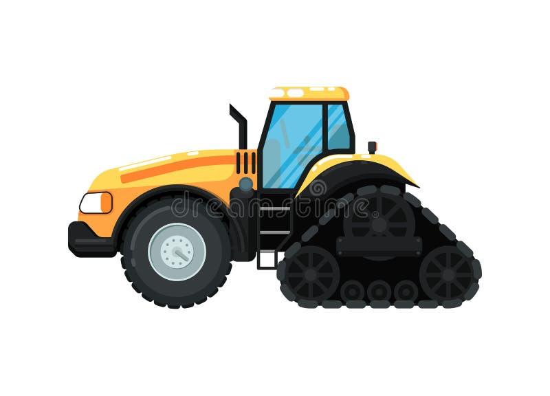 Ilustração do vetor do trator de exploração agrícola de Caterpillar ilustração royalty free