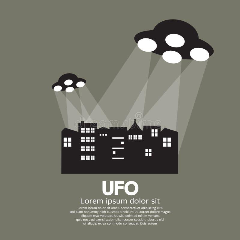 Ilustração do vetor do UFO ilustração do vetor