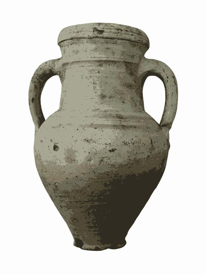 Ilustração do vetor do vaso velho ilustração do vetor