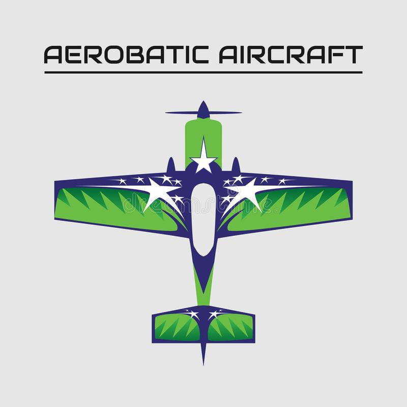 Ilustração do vetor dos aviões mx2 aerobatic ilustração royalty free