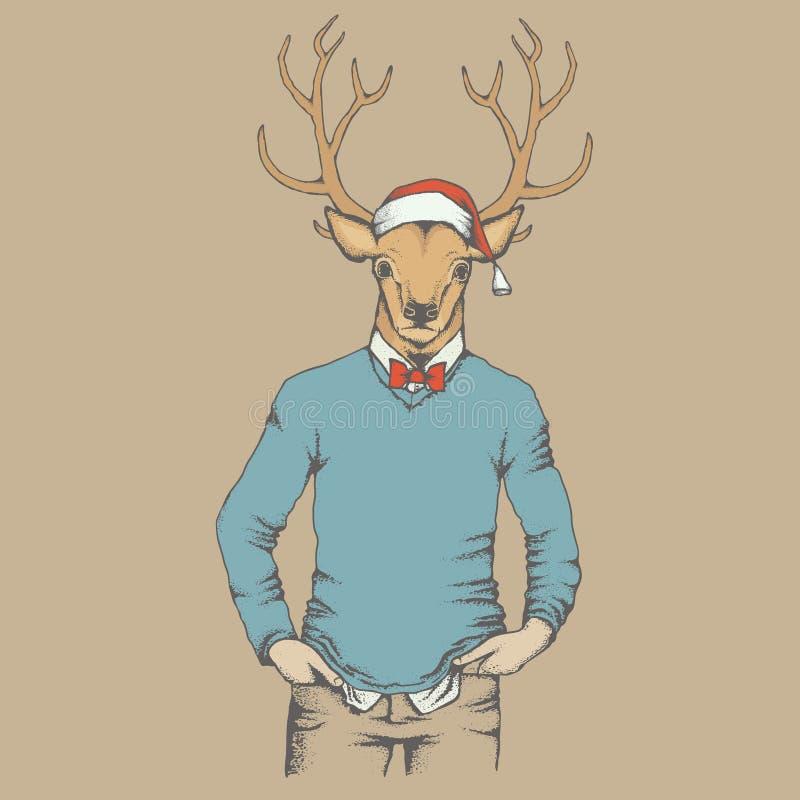 Ilustração do vetor dos cervos ilustração stock