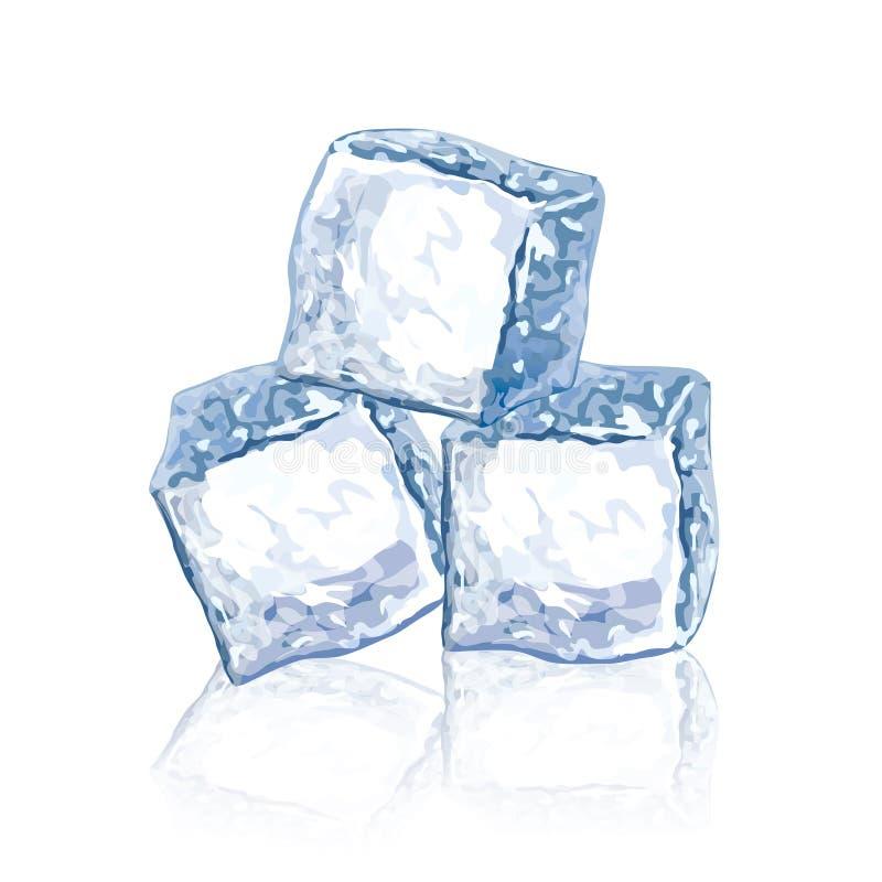 Ilustração do vetor dos cubos de gelo ilustração stock