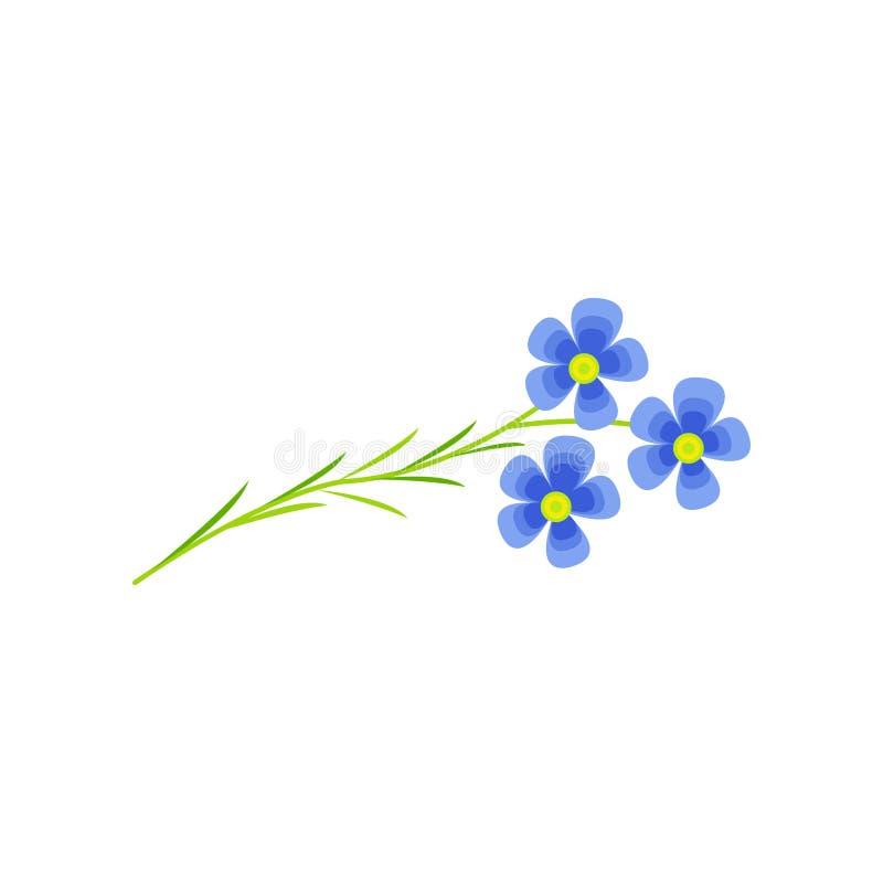 Ilustração do vetor dos desenhos animados da flor do linho ilustração stock