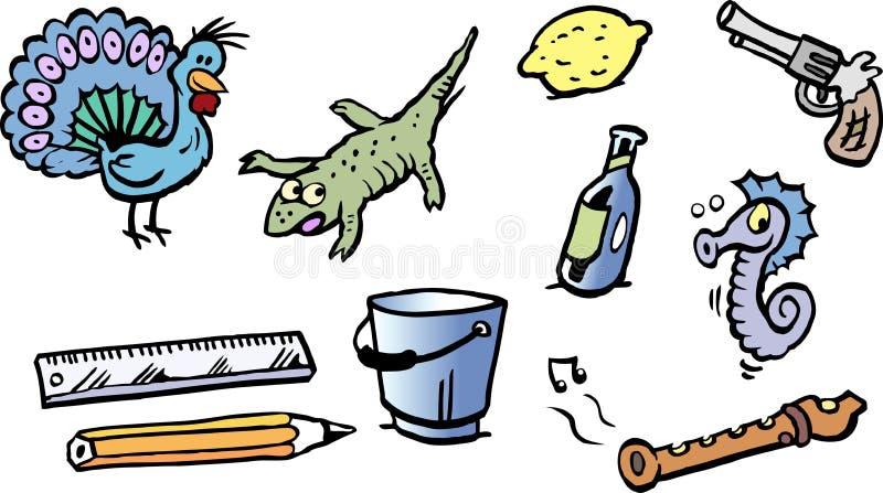 Ilustração do vetor dos desenhos animados de um grupo de pequeno engraçado ilustração do vetor