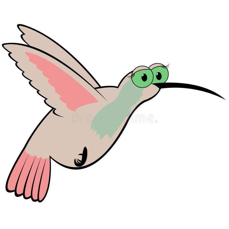 Ilustração do vetor dos desenhos animados do colibri ilustração do vetor
