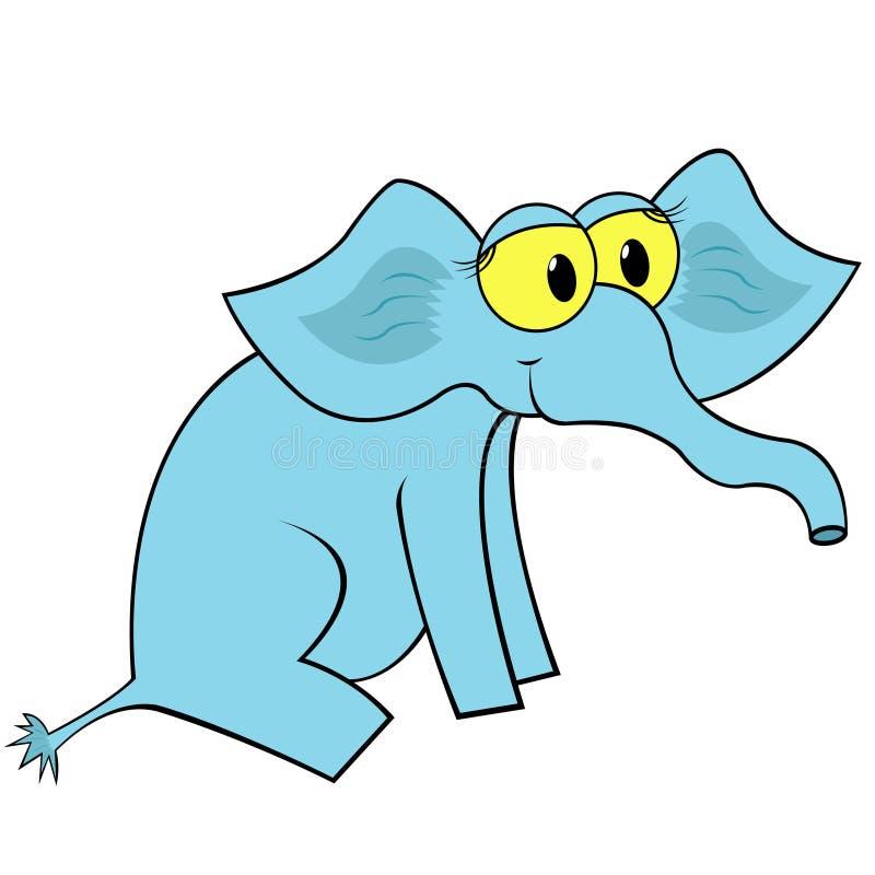 Ilustração do vetor dos desenhos animados do elefante ilustração royalty free