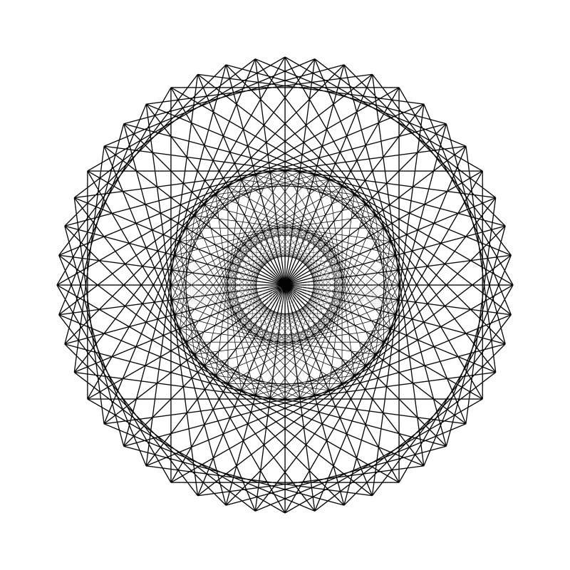 Ilustração do vetor dos elementos sagrados da geometria ilustração stock