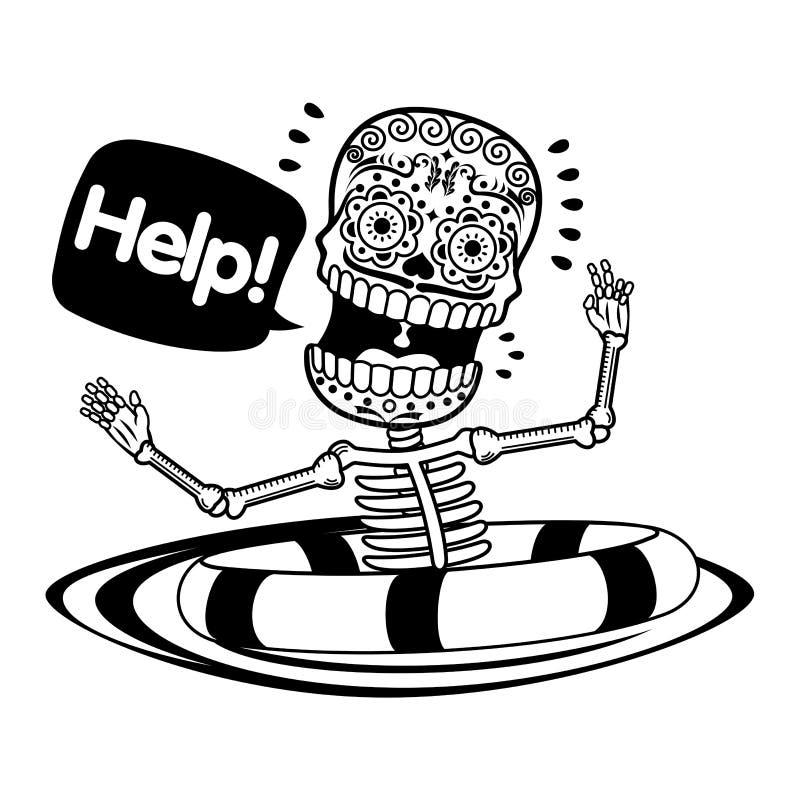 Ilustração do vetor dos esqueletos ilustração royalty free