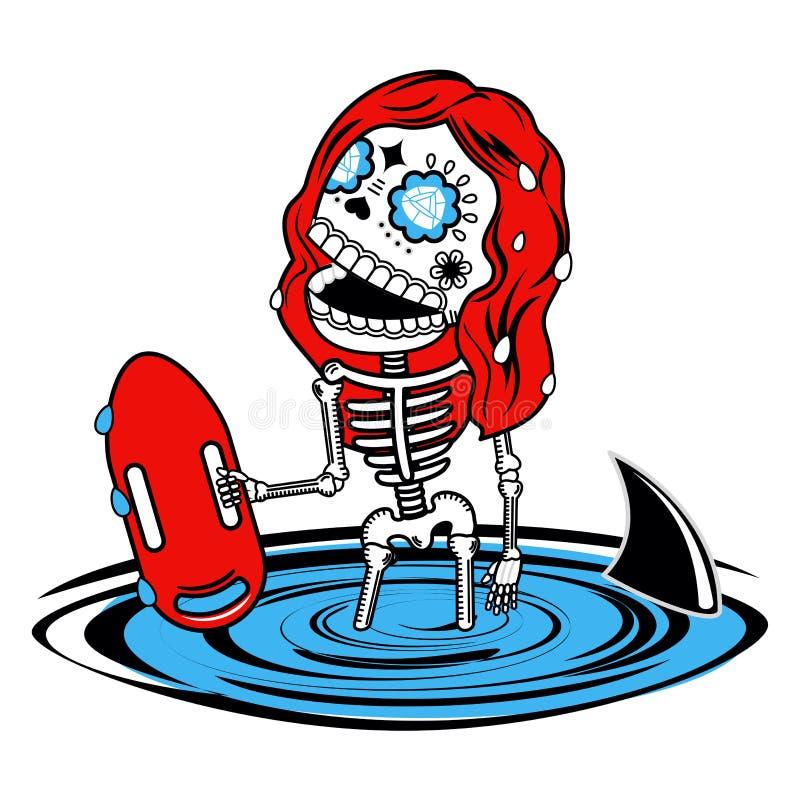 Ilustração do vetor dos esqueletos ilustração do vetor