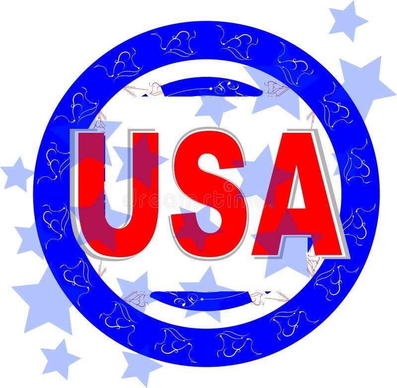 Ilustração do vetor dos EUA. Dia da Independência americano ilustração do vetor