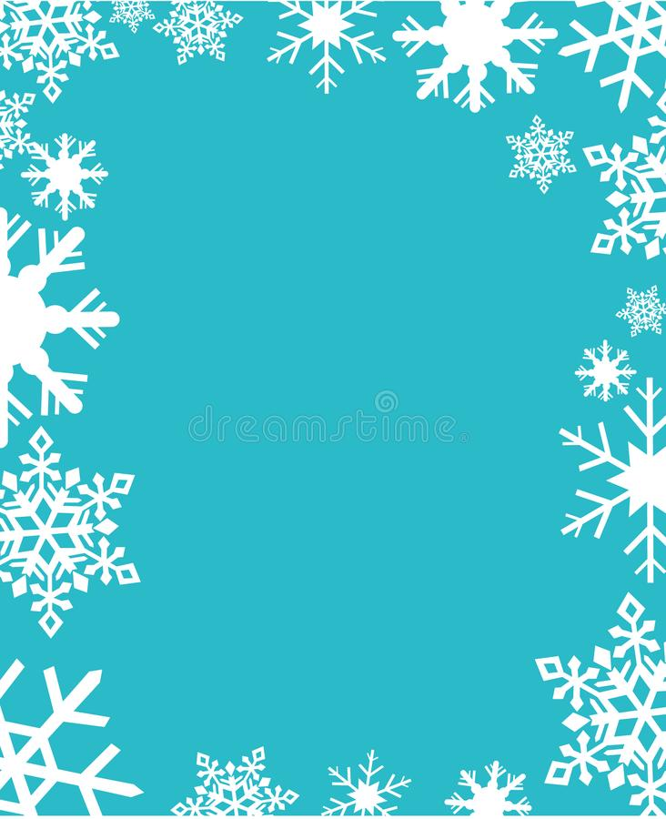 Ilustração do vetor dos flocos de neve ilustração royalty free