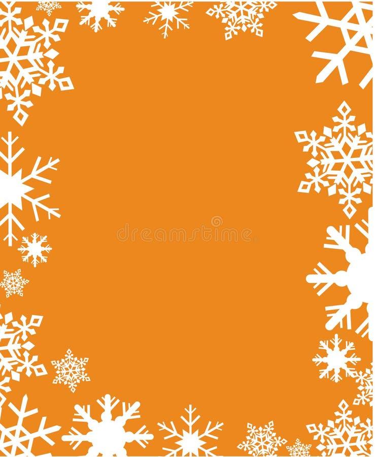 Ilustração do vetor dos flocos de neve ilustração stock