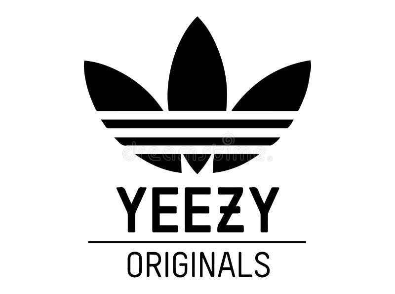 Ilustração do vetor dos originais de Adidas Yeezy ilustração stock