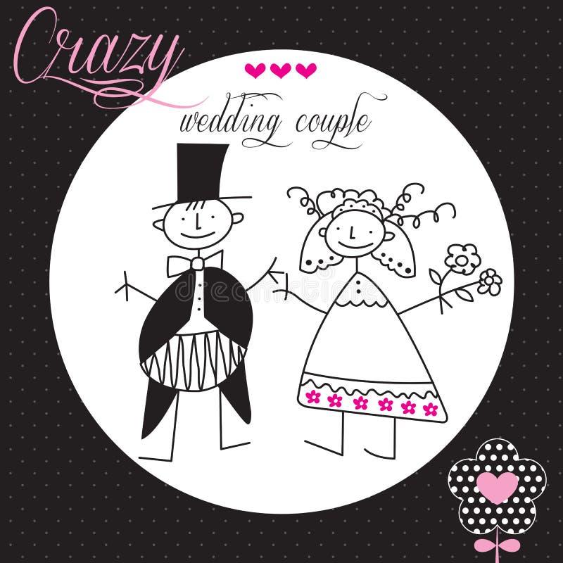 Ilustração do vetor dos pares do casamento ilustração stock