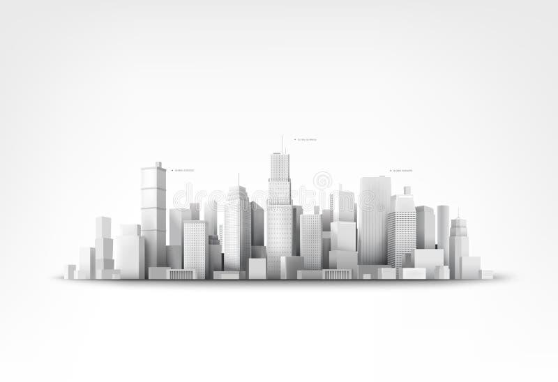 Ilustração do vetor dos skyscrappers ilustração do vetor
