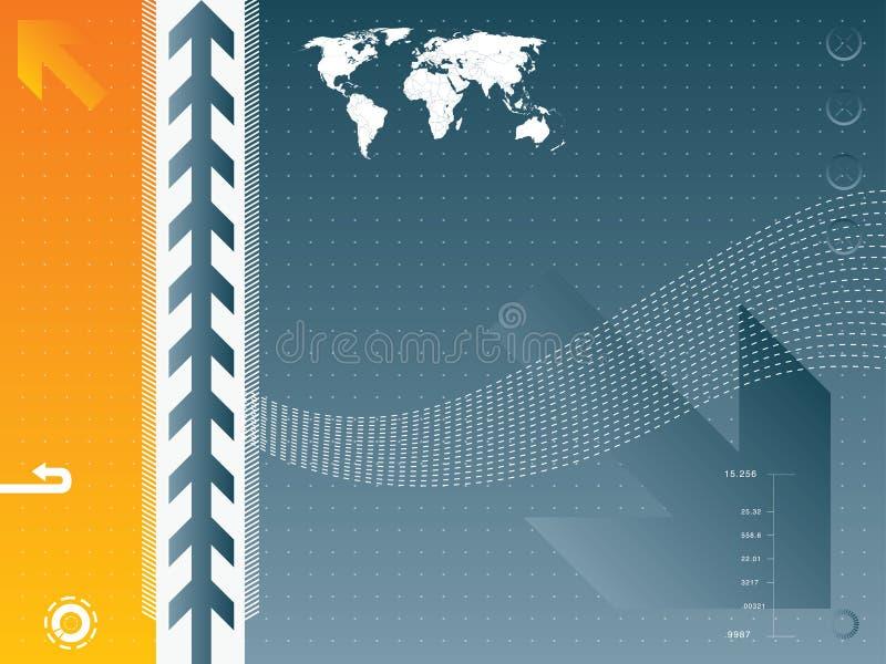 Ilustração do vetor e mapa do mundo ilustração royalty free