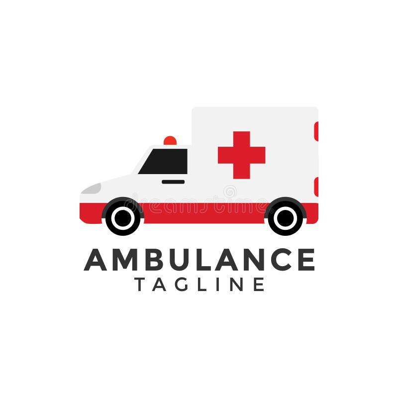 Ilustração do vetor do elemento do projeto gráfico do carro da ambulância ilustração royalty free