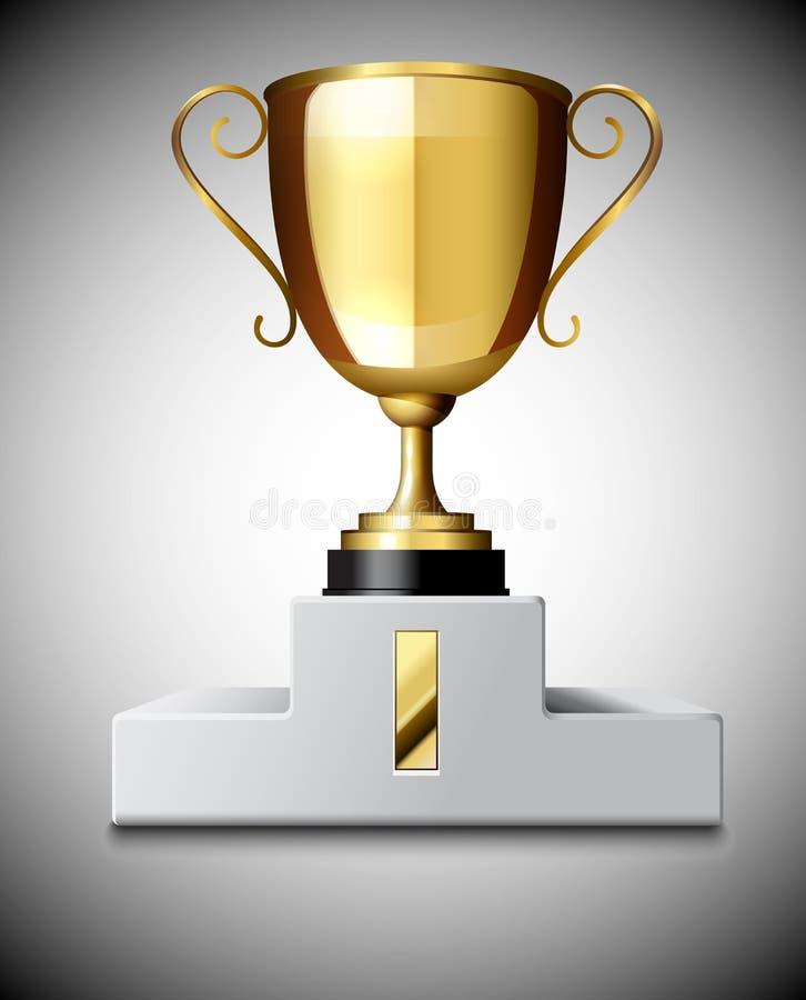 Download Copo do troféu do ouro ilustração do vetor. Ilustração de metal - 29846339