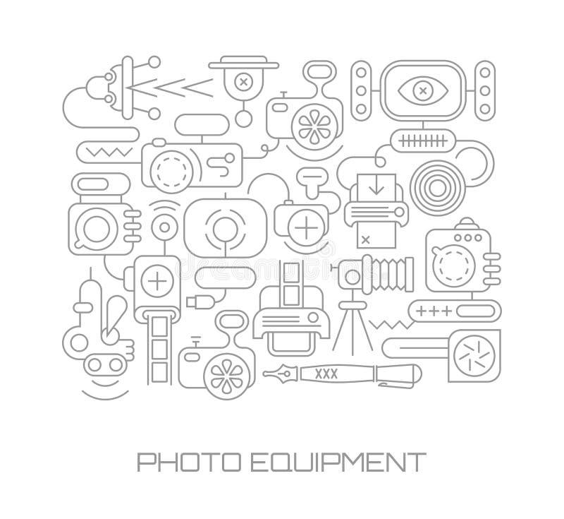 Ilustração do vetor do equipamento da foto ilustração royalty free