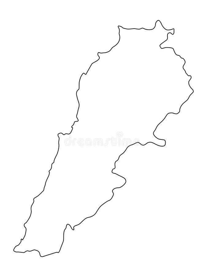 Ilustração do vetor do esboço do mapa de Líbano ilustração do vetor