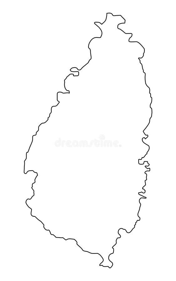 Ilustração do vetor do esboço do mapa de St Lucia ilustração royalty free