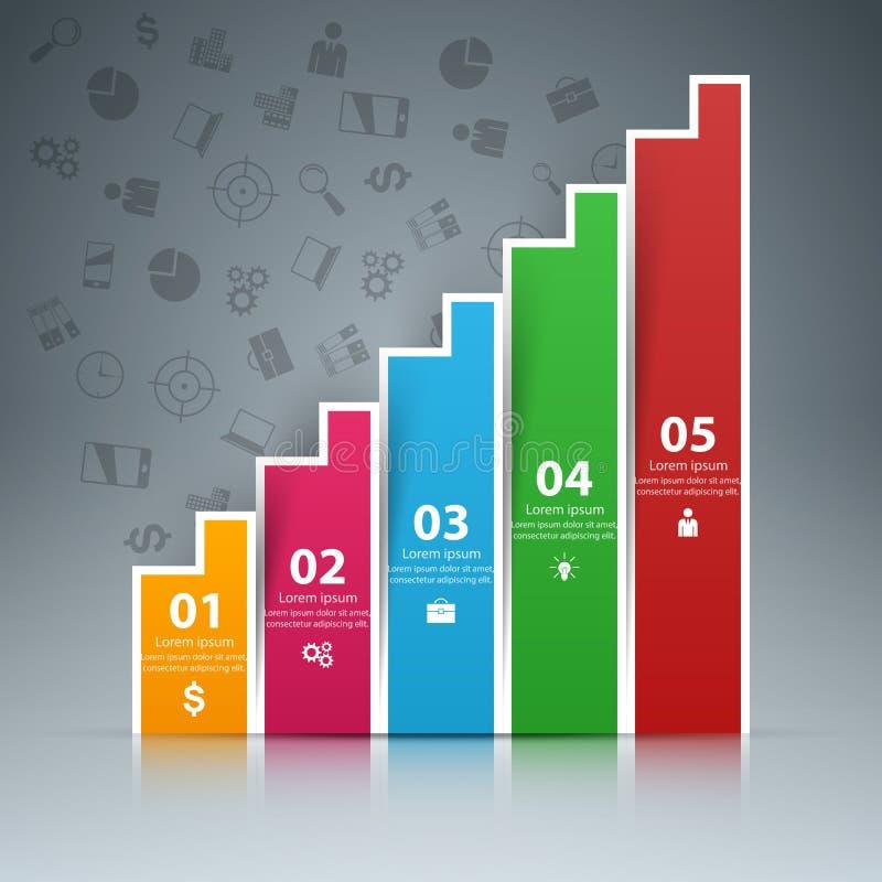 Ilustração do vetor do estilo do origâmi de Infographics do negócio ilustração do vetor