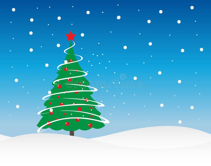 Ilustração do vetor do feriado de inverno da árvore de Natal fotos de stock royalty free