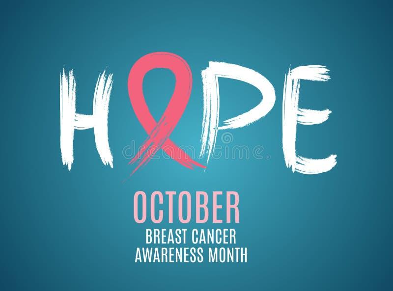 Ilustração do vetor do fundo da fita do rosa do mês da conscientização do câncer da mama ilustração do vetor