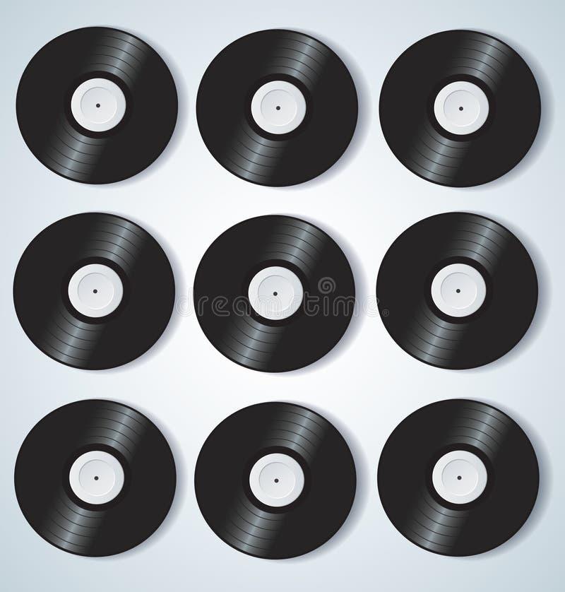 Ilustração do vetor do fundo da música dos registros de vinil ilustração do vetor