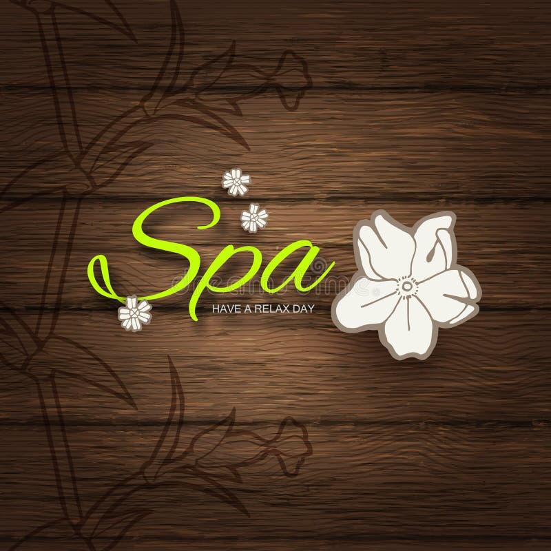 Ilustração do vetor Fundo do negócio do spa resort ou da beleza Projeto de Eco ilustração do vetor