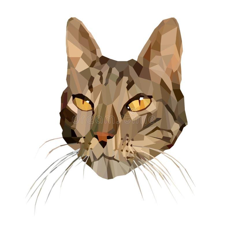 Ilustração do vetor do gato no baixo estilo poli ilustração royalty free