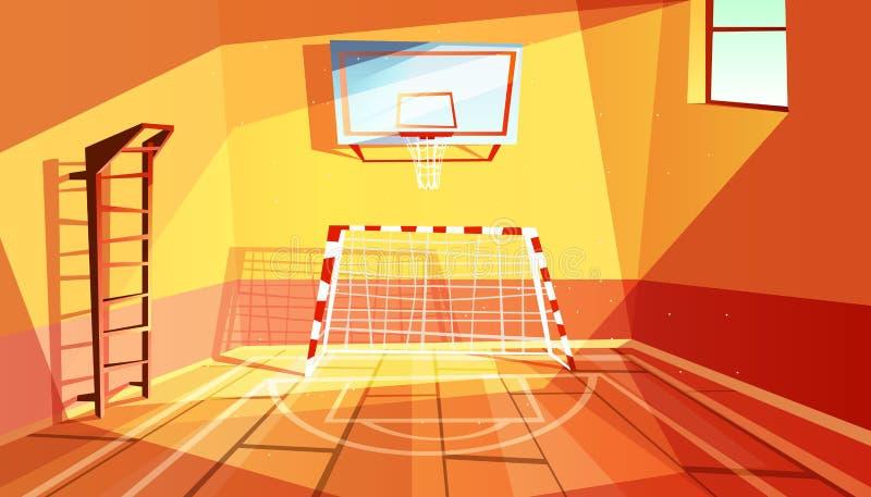 Ilustração do vetor do ginásio ou do salão do gym ilustração stock