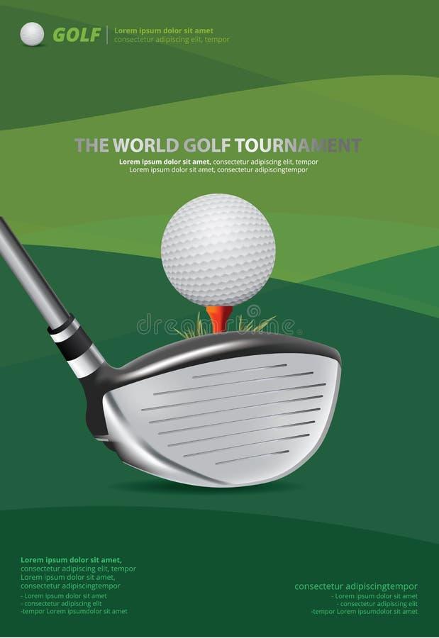Ilustração do vetor do golfe do cartaz ilustração stock