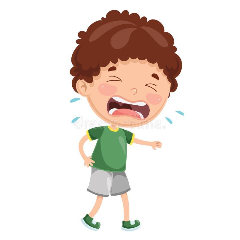 Ilustração do vetor do grito da criança ilustração do vetor