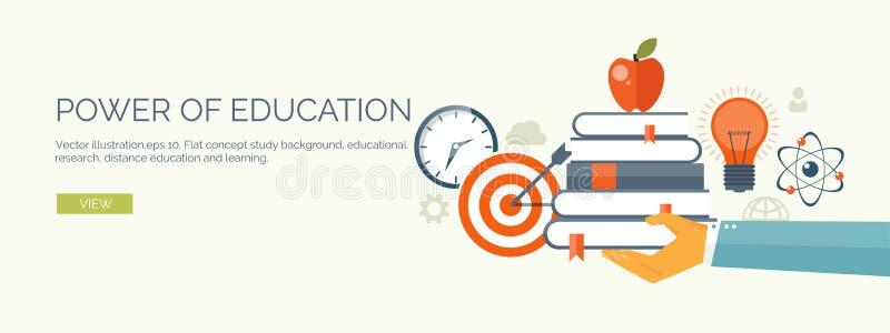 Ilustração do vetor Grupo liso dos fundos Ensino à distância, aprendendo Escola em linha da Web dos cursos Informação do conhecim ilustração do vetor