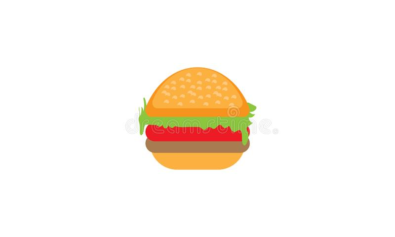 Ilustração do vetor do hamburguer - Hamburger do alimento - hamburguer do queijo - hamburguer da carne ilustração stock
