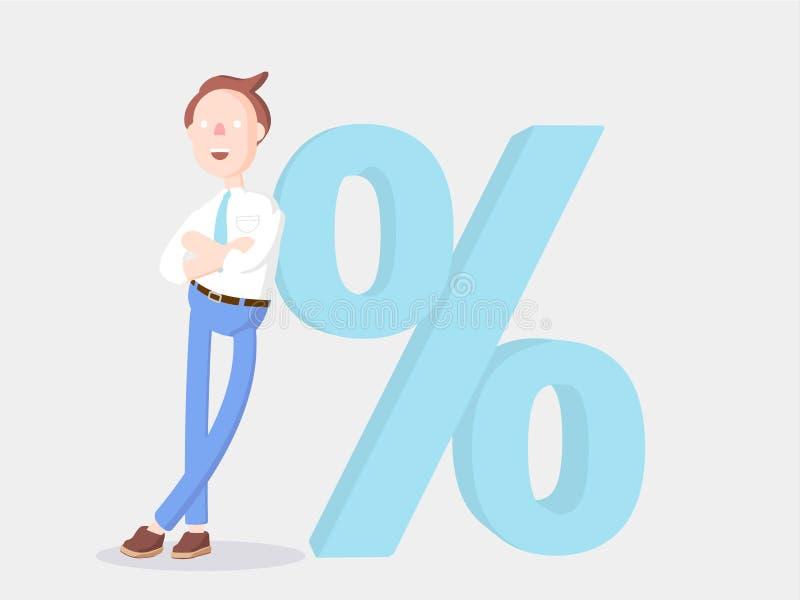 Ilustração do vetor Homem de negócios Jimmy e taxa reduzida ilustração do vetor