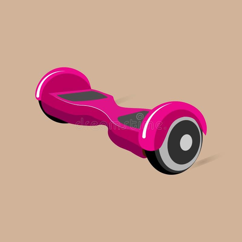 Ilustração do vetor Hoverboard, segway, gyroscooter, giroscópio liso ilustração royalty free
