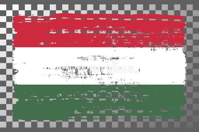 Ilustração do vetor isolado de bandeira nacional húngara ilustração stock